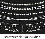 christmas light string... | Shutterstock .eps vector #508435855