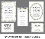 wedding suite template decorate ... | Shutterstock .eps vector #508436581