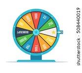 wheel of fortune with winning... | Shutterstock .eps vector #508440019