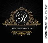 vintage vector monogram.... | Shutterstock .eps vector #508440559