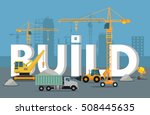 build banner concept in flat... | Shutterstock .eps vector #508445635
