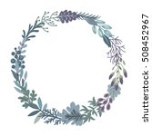 vector graphic beautiful floral ... | Shutterstock .eps vector #508452967