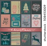 collection of nine christmas... | Shutterstock .eps vector #508453009