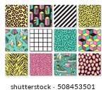 memphis seamless patterns with... | Shutterstock .eps vector #508453501