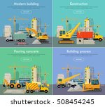 modern building. construction.... | Shutterstock .eps vector #508454245
