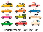 collection isolated vector... | Shutterstock .eps vector #508454284