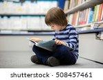 adorable little child  boy ... | Shutterstock . vector #508457461
