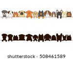 small dogs border with... | Shutterstock .eps vector #508461589