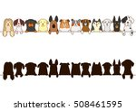 big dogs border with silhouette | Shutterstock .eps vector #508461595