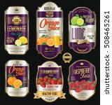 retro vintage golden labels for ... | Shutterstock .eps vector #508465261