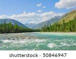 Siberia. Altai. View On Green...