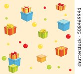 holiday background with boxes... | Shutterstock .eps vector #508469941