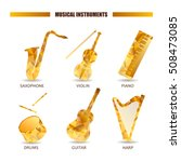 musical instruments vector icon ... | Shutterstock .eps vector #508473085