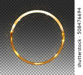 golden shiny circle frame on... | Shutterstock .eps vector #508476694