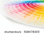 colour swatches book. rainbow... | Shutterstock . vector #508478305