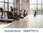 modern gym room fitness center... | Shutterstock . vector #508479271