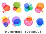 colorful abstract watercolor ... | Shutterstock .eps vector #508485775