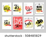 sale icons  tags  labels and... | Shutterstock .eps vector #508485829