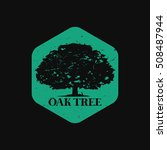 Oak Tree Logo In Dark Background