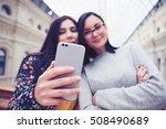 dual lens camera on smartphone... | Shutterstock . vector #508490689