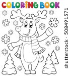 coloring book stylized... | Shutterstock .eps vector #508491571