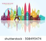 world skyline. travel and... | Shutterstock .eps vector #508495474
