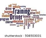 driver training  word cloud... | Shutterstock . vector #508503031