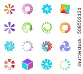 download status icons set.... | Shutterstock .eps vector #508503121