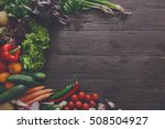 left side border of fresh... | Shutterstock . vector #508504927