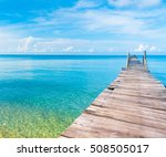 path filled with love jetty to... | Shutterstock . vector #508505017