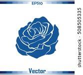 rose icon | Shutterstock .eps vector #508505335