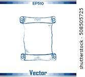 ncient parchment sheet of paper ... | Shutterstock .eps vector #508505725