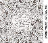 cartoon cute doodles hand drawn ... | Shutterstock .eps vector #508507501