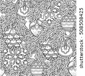 seamless pattern in doodle... | Shutterstock .eps vector #508508425