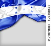 honduras country flag on white... | Shutterstock . vector #508508689