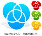 overlapping circles icon  ... | Shutterstock .eps vector #508508821