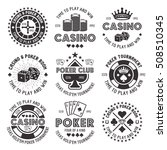 poker and casino set of vector... | Shutterstock .eps vector #508510345
