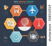 travel concept design info... | Shutterstock .eps vector #508510519