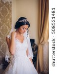 luxury bride on the morning of... | Shutterstock . vector #508521481