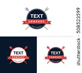 food and drink hipster logo.... | Shutterstock .eps vector #508523599