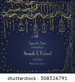 unique vector wedding cards... | Shutterstock .eps vector #508526791
