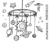 baby theme. hand drawn sketch... | Shutterstock .eps vector #508538125