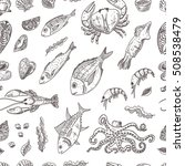 seamless pattern with isolated... | Shutterstock .eps vector #508538479