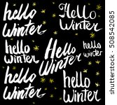 hello winter collection text.... | Shutterstock .eps vector #508542085