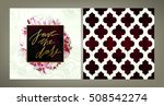 set of trendy vector wedding... | Shutterstock .eps vector #508542274