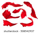 smooth elegant red satin cloth... | Shutterstock . vector #508542937