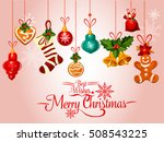 christmas holiday greeting card ... | Shutterstock .eps vector #508543225