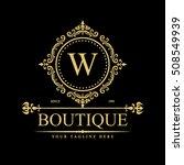 luxury logo template in vector... | Shutterstock .eps vector #508549939
