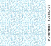 seamless pattern with icons of... | Shutterstock . vector #508551439