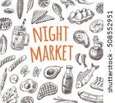night market card. traditional... | Shutterstock .eps vector #508552951